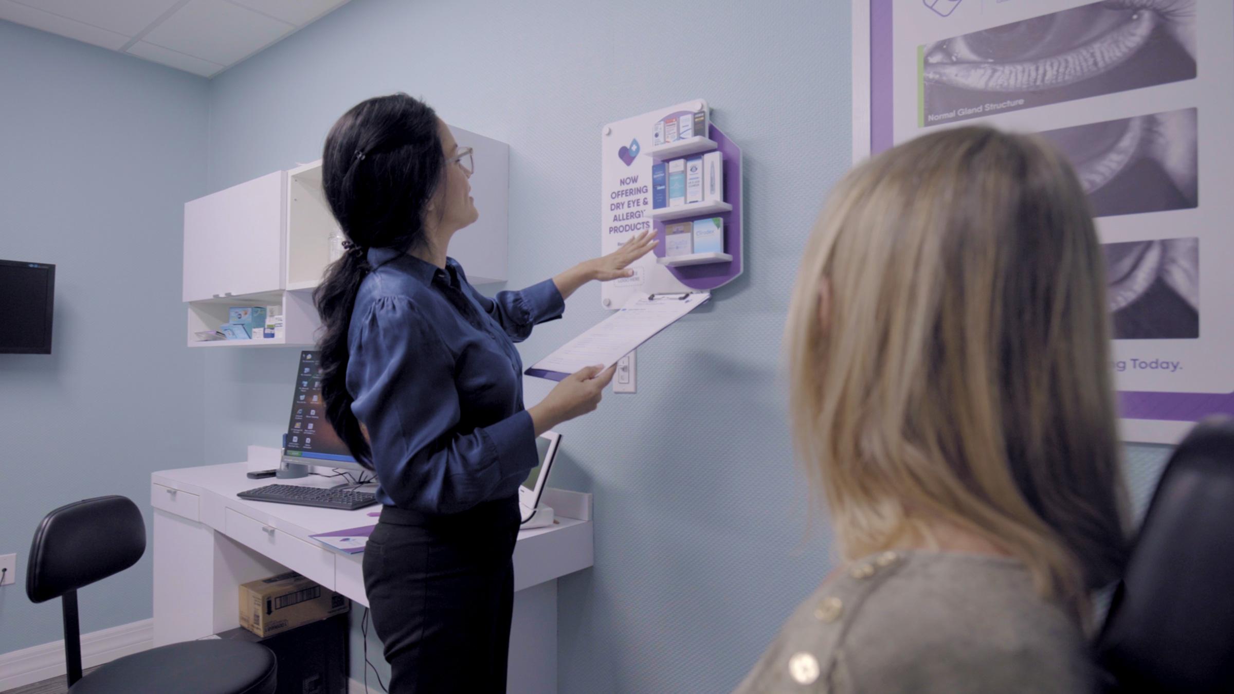 doctor exam room display