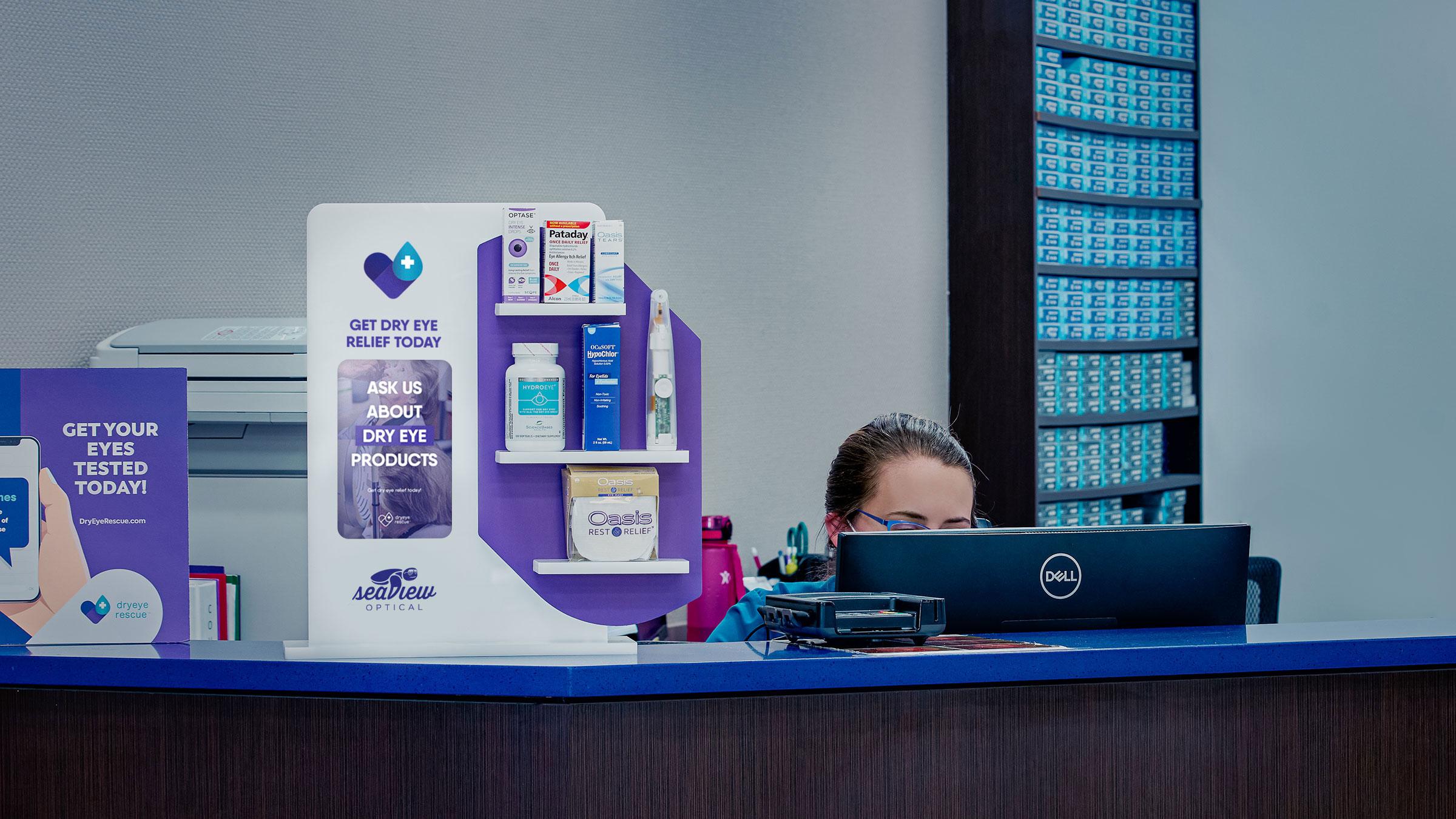 dry eye product display